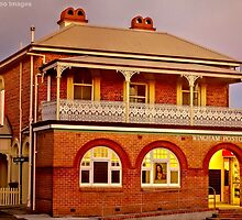 Wingham Post Office At Dusk by wallarooimages