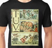 The Sleeping Beauty Picture Book Plate - The Baby's Own Alphabet - Tt Uu Vv Unisex T-Shirt