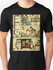 The Sleeping Beauty Picture Book Plate - The Baby's Own Alphabet - Ee, Ff, Gg T-Shirt