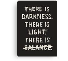 NO BALANCE Canvas Print