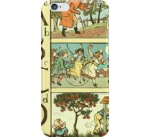 The Sleeping Beauty Picture Book Plate - The Baby's Own Alphabet - Aa Bb Cc Dd iPhone Case/Skin