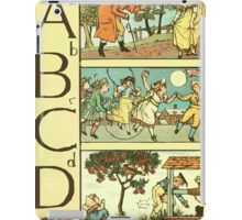 The Sleeping Beauty Picture Book Plate - The Baby's Own Alphabet - Aa Bb Cc Dd iPad Case/Skin