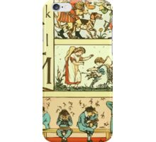The Sleeping Beauty Picture Book Plate 010 - The Baby's Own Alphabet - Kk, Ll, Mm iPhone Case/Skin