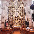 Santa Prisca Parish Altar, Taxco, Mexico by Allen Lucas