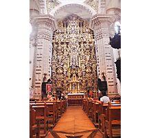 Santa Prisca Parish Altar, Taxco, Mexico Photographic Print