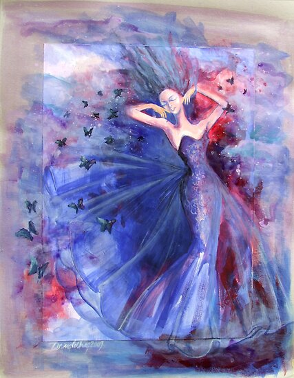 Blue feeling  by dorina costras