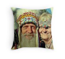 Cheif Becoha & White Dove Throw Pillow