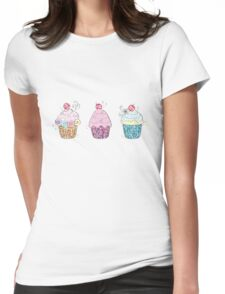 Cup cakes Womens Fitted T-Shirt
