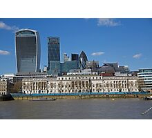 London Skyline Walkie Talkie building and Gherkin Photographic Print