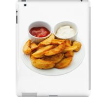 Chips with Mayonnaise and Tomato Dips iPad Case/Skin