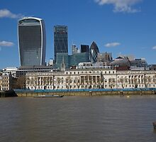 London Skyline Walkie Talkie building and Gherkin by Keith Larby