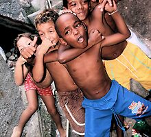 Rocinha Favela Kids, Rio De Janeiro, Brazil 2009 by Tash  Menon