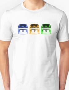 VW Kombi Shirt - Blue Orange Green T-Shirt
