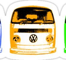 VW Kombi Shirt - Blue Orange Green Sticker