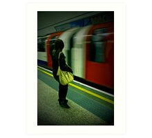 Tube Portrait. Art Print