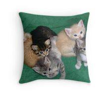 One Happy Family Throw Pillow