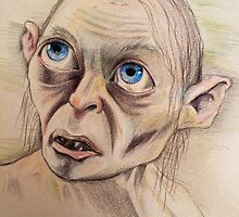 Gollum Smeagol LOTR the Hobbit by Maudster