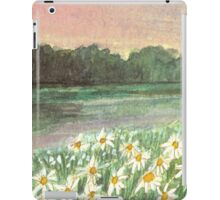 SUNSET OVER DAISY-MEADOW - A Dream of Peace may fill your Heart iPad Case/Skin