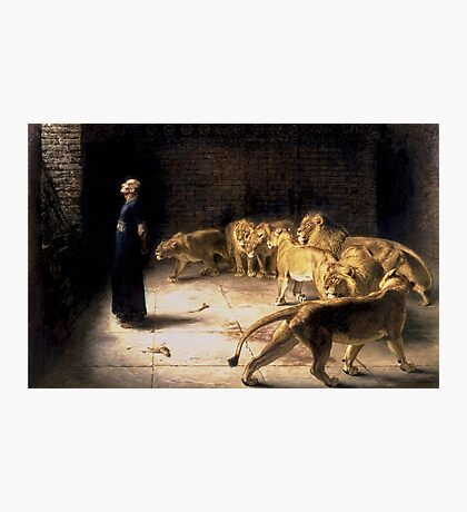 Briton Riviere - Daniels Answer To The King Painting Photographic Print