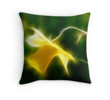 Fractilius Daffodil Throw Pillow