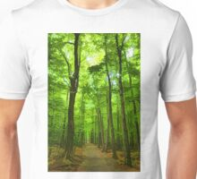 Green Light Harmony - Walking Through The Summer Forest Unisex T-Shirt