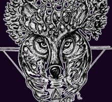 The Wolf Tree patterns (dark purple) Sticker
