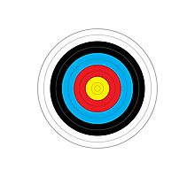 Walking Archery Target Photographic Print