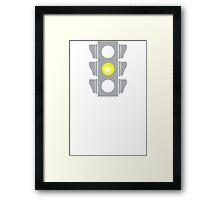 Challenge Accepted Stoplight Framed Print