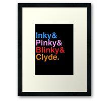 Inky Pinky Blinky Clyde Framed Print
