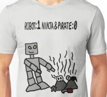 Robot vs Ninja and Pirate Unisex T-Shirt
