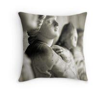 Marble's profiles Throw Pillow