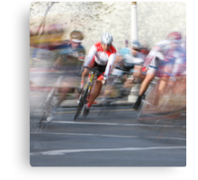 Group of Cyclists Head into the Final Lap Canvas Print
