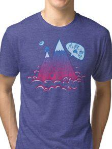 When the mountains speaks, wise men listen Tri-blend T-Shirt