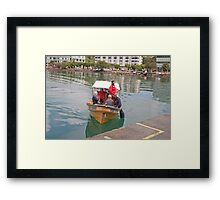 Small boat in St Lucia Framed Print