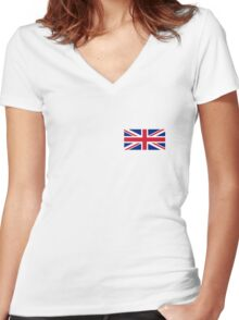 Flag of the United Kingdom Women's Fitted V-Neck T-Shirt
