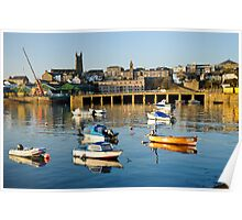 Penzance Harbour Boats Poster