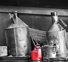 Oil Cans by Ron Hindhaugh