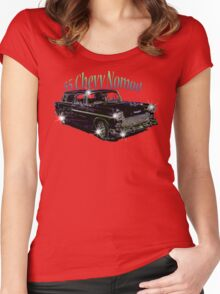 55' Chevy Nomad Women's Fitted Scoop T-Shirt