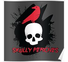 Skully Perches Poster
