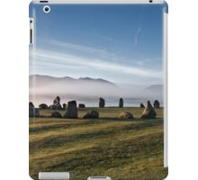 Early morning mist behind Castlerigg Stone Circle iPad Case/Skin