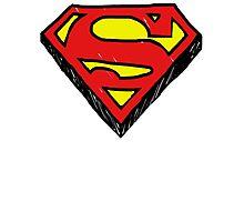 Superman Classic Logo - Handstyle Photographic Print