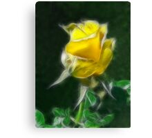 Yellow Rose 2 Intense Canvas Print