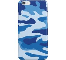 Camouflage Blue iPhone Case/Skin