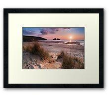 Cornwall - Holywell Bay Framed Print