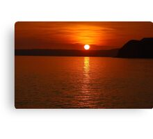 Ruby Sunset Coastal View Canvas Print