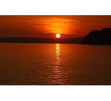 Ruby Sunset Coastal View Photographic Print