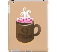 Hot Chocolate with seriously cutie Kawaii marshamallows iPad Case/Skin