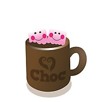 Hot Chocolate with seriously cutie Kawaii marshamallows Photographic Print