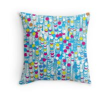 color hiving Throw Pillow