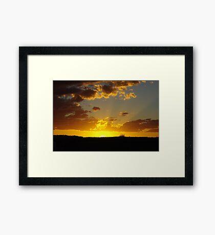 Last Rays on the Downs Framed Print